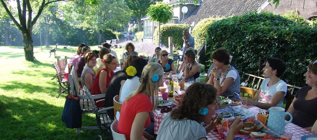 kunstzinnig dynamisch coachen lunch buiten