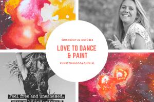 26 Oktober Workshop Intuïtief Schilderen met dans